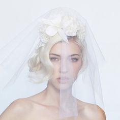 Bijou Van Ness bridal flower with veil