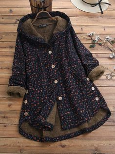 Long Sleeve Hooded Buttons Parkas Coats Fashion girls, party dresses long dress for short Women, casual summer outfit ideas, party dresses Fashion Trends, Latest Fashion # Coats For Women, Jackets For Women, Clothes For Women, Women's Jackets, Winter Jackets, Fluffy Coat, Swing Coats, Winter Hoodies, Country Girl Fashion