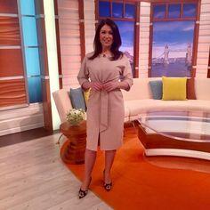 "23 Likes, 2 Comments - Debbie Harper (@debbiedresses) on Instagram: ""@gmb @susannareid100 wearing @phaseeight kimono style dress @zara embroidered heels! #studiostyle…"""