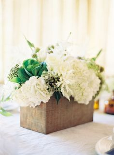 #Rustic #Centerpiece | See the wedding on http://www.StyleMePretty.com/2014/01/15/rustic-elegance-at-dos-pueblos-ranch/ Jose Villa Photography