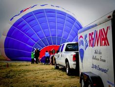 Inflating the RE/MAX Balloon at the Wings of History Museum Open House and Fly-In. South County Airport in San Martin, CA.