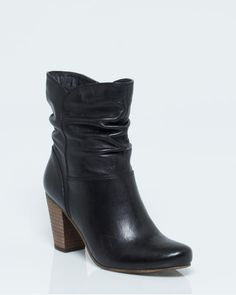 Leather Pleated Ankle Bootie Autumn Winter Fashion, Fall Winter, Shoe Boots, Shoes, Ankle Booties, Wedges, Booty, Leather, Accessories