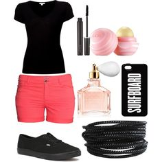 Untitled #18 by lilface1982 on Polyvore featuring polyvore, fashion, style, James Perse, H&M, Vans, Pieces, Laura Mercier, Guerlain and Eos