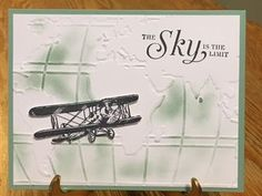 Going Globa; Sky is the Limit; World Traveler Textured Impressions Embossing Folder; Stampin' Up 2016 Occasions Catalog; Stampin' Up 2016 Sale-A-Bration Catalog