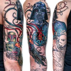 Post with 86 votes and 12942 views. Tagged with , , , Awesome; Shared by deathstarspins. Full Sleeve Tattoo Design, Full Sleeve Tattoos, Celtic Tattoos, Star Tattoos, Stormtrooper Tattoo, Discrete Tattoo, Tattoo Japanese Style, Mythology Tattoos, Star Wars Quotes