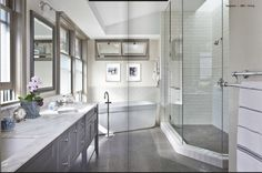 Master Bath will be getting remodeled this year...bye, bye carpet in 2014.  via Tou Jours online magazine