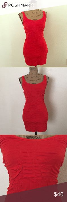 Red mini dress💋❤️ Lady in red...❤️ this red chick & sexy mini dress perfect with your black leather jacket how about some hot stuff  girls night out..used just once Material Girl Dresses Mini