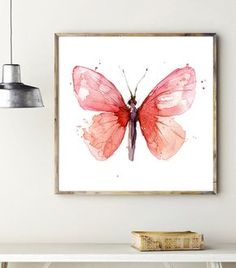 Butterfly Watercolor Painting - Giclee Art print - Animal painting - insect art…