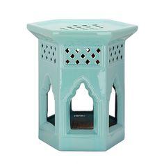 Keramikhocker Marokkanisch - Aqua