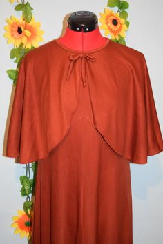 fab vintage 70s caped sienna maxi dress festival by jampops