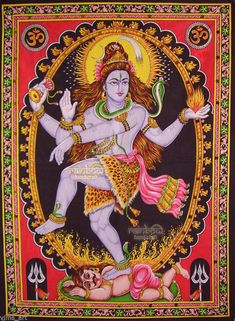 Nataraja or Nataraj, The Lord (or King) of Dance is a depiction of the Hindu god Shiva as the cosmic dancer who performs his divine dance to destroy a weary universe and make preparations for god Brahma to start the process of creation. Hindu Shiva, Shiva Art, Hindu Deities, Krishna Art, Hindu Art, Nataraja, Om Namah Shivaya, Lord Shiva, Desenho New School