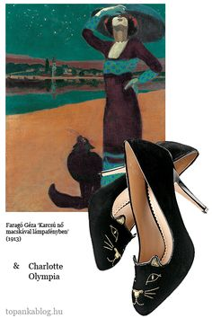 Painting by Faragó Géza, shoes by Charlotte Olympia
