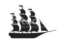 Schiff-silhouette lizenzfreie Stock-Vektorgrafik
