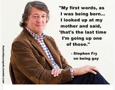 Stephen Fry is the best I Support You, One Word, The Last Time, Atheism, News Blog, Looking Up, Lol, Good Things, Sayings