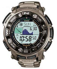 G-Shock Watch, Men's Digital Pathfinder Titanium Bracelet PRW2500T-7