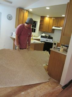 Home Improvement- Removing Vinyl Flooring, Q-Tip cleaning, and Slip and Slides