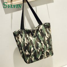 2017 Hot Sale New Fashion Camouflage Canvas Women s Shoulder Bags Large  Capacity Lady Handbags ElUnico 2660 105a9f1725a63