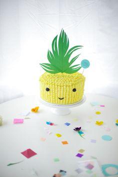 pineapple cake face - coco cake land