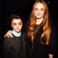 Maisie Williams & Sophie Turner of Game of Thrones at the Christian Siriano show #nyfw #gameofthrones [x]
