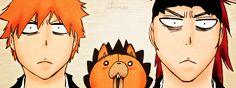 Renji, Kon and Ichigo.