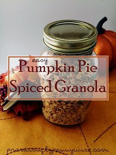 Easy Pumpkin Pie Spiced Granola: Make the house smell like autumn with this…