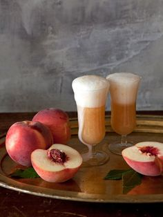 Culinary Word of the Day: Fresh Peach Bellini  Love peaches? Try this refreshing cocktail. The Bellini is a peachy version of the Champagne Cocktail and makes a great brunch cocktail.
