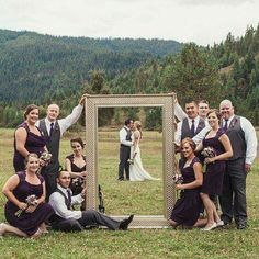 wedding shot idea fun, inexpensive can use the view of the venue, and ties in with the whole theme.