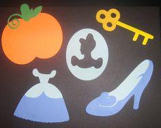 Cinderella centerpiece, accessories, scrap booking, invitations, banners, birthday party, nursery. $8.00, via Etsy.