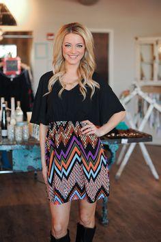 Dottie Couture Boutique - Chevron Print Dress, $46.00 (http://www.dottiecouture.com/chevron-print-dress/)
