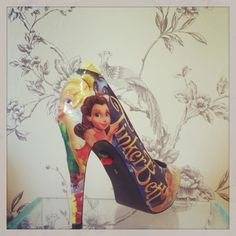 Tinkerbell high heels from http://www.cherrybomb-boutique.com