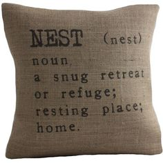 i love nesting. :) this would be cute on a love seat!