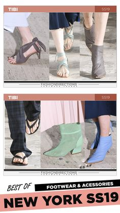 #nyfw #2018 #ss19 #bestof #womens #footwear #shoes #handbags #trends #fashion #accessories #fashiondirections #tibi Nyfw 2018, Footwear Shoes, Prabal Gurung, Ulla Johnson, Proenza Schouler, Designer Shoes, Tory Burch, Fashion Accessories, Fashion Design