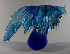 """Our very popular """"A Splash of Glass"""" exhibit featuring Christopher Belleau closes October 30th. These's still time to get the PERFECT Cape Cod glass sculpture....  At the Sandwich Glass Museum"""