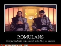 In case no one knew, the guy on the left is the same actor who plays Gul Dukat on Whether a Romulan or Cardassian, he's always causing trouble! Star Trek Meme, Star Wars, Star Trek Characters, Best Sci Fi, Star Trek Starships, Starship Enterprise, Star Trek Ships, Star Trek Universe, Geek Girls