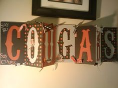 Make your own WSU Cougars sign!