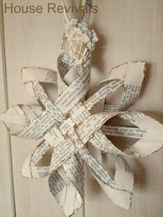 House Revivals: Christmas Swedish Advent Star -- A New Variation.  Use the music paper