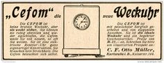 Original-Werbung/Inserat/ Anzeige 1914 - CEFOM WECKUHR / OTTO MÜLLER KARLSRUHE- ca. 40 X 110 mm