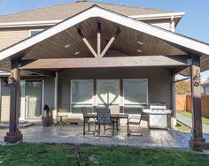 New covered patio addition gazebo 53 Ideas Patio Gazebo, Backyard Patio Designs, Back Patio, Patio Roof, Pergola Kits, Pergola Ideas, Small Patio, Pergola Roof, Patio Overhang Ideas