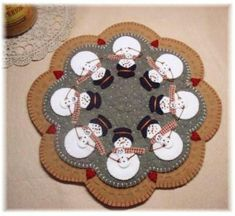 Snomoms Candle Mat/Penny Rug Pattern with Wool Kit on Etsy, $23.10 CAD