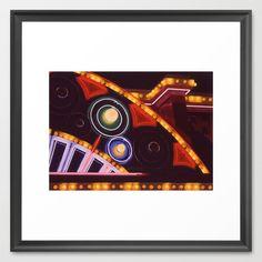 Close Up Neon and Lights Paul Dunlop circa 1980s Framed Art Print