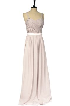 Bridesmaid dress with straps
