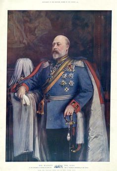 Edward VII Published by The Graphic, after Emil Fuchs Colour halftone, published December 1903