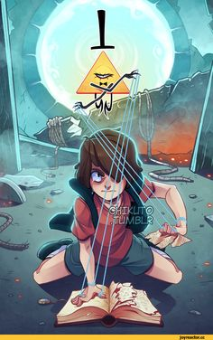 Bill Cipher and Dipper