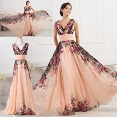 Nobility Floral Wedding/Evening/Party/Prom Formal Long Dress Gown Plus Size