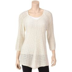 MI-192062-F1EBC7-A%3F%24zm%24 Best Deal It's Our Time Tan Open Weave Pullover Sweater  Misses  Black  M  US Sweaters