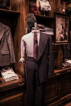 Love the vintage look of this store. > RRL double breasted suit