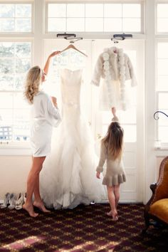 Bride and flower girl @Ashley Lowder Photography