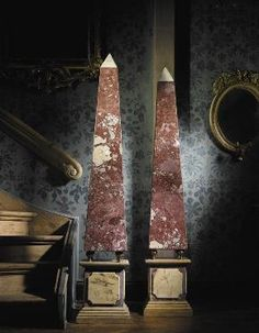 A pair of Sienna and Breccia marble obelisks, late Century high Water Purification, Grand Tour, Decorative Accents, Top Of The World, Columns, Accent Decor, 19th Century, Marble, Objects