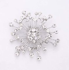 Diamante Starburst Brooch
