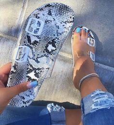 Flat Comfortable Summer Women's Slippers is part of Shoes - Slipper Type Flip Flop Heel Type Flat With Heel Height Flat Heel Closure Type SlipOn Platform Height 1 Cute Sandals, Cute Shoes, Women's Shoes, Me Too Shoes, Shoe Boots, Flat Sandals, Flats, Gladiator Sandals, Leather Sandals